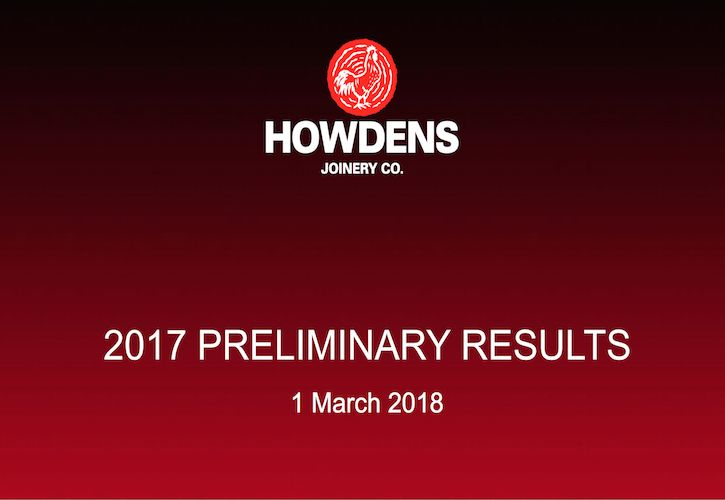 Howdens 2017 Results image