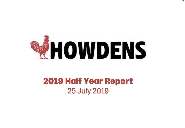 Howdens 2019 Half Year Report
