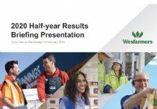 Wesfarmers Half Year Results Presentation