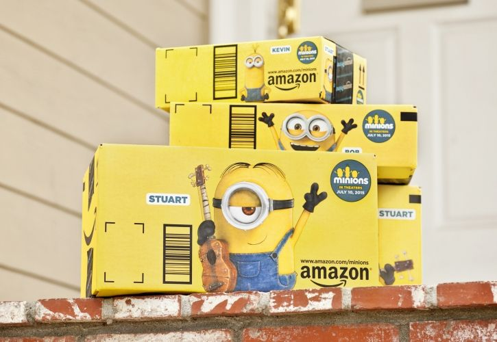 Amazon Minion boxes