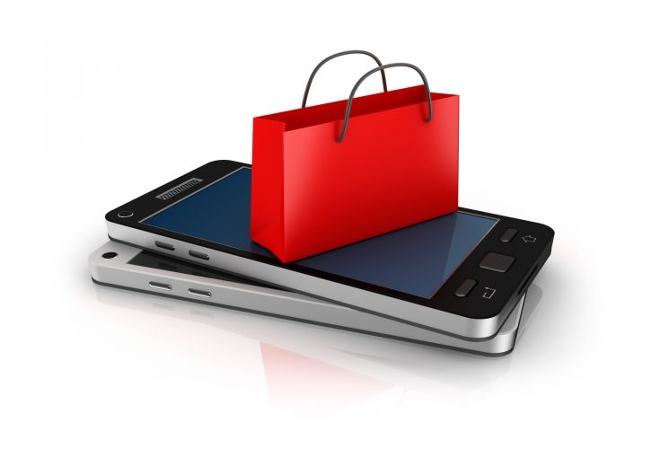 Mobile and shopping bag