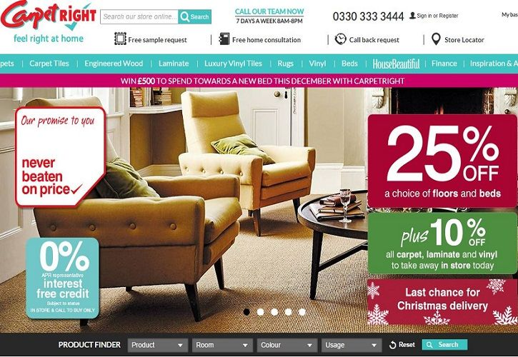 Carpetright website December 2015