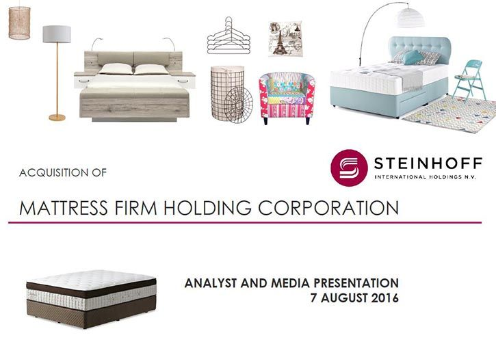 Steinhoff Mattress-Firm Acquisition Presentation 725 x 500