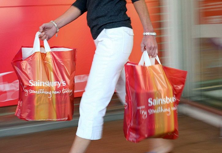 Sainsbury's customer with bags 725 x 500