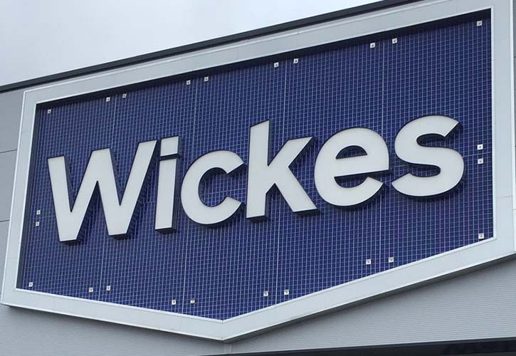 Wickes grid sign 725 x 500