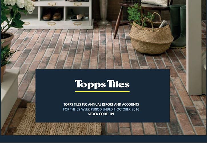 Topps Tiles 2016 Annual Report 725 x 500