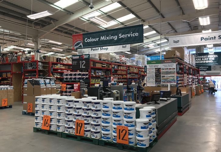 Bunnings Warehouse Worle Paint Dept