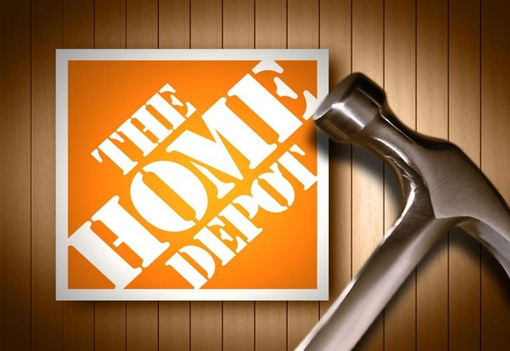 Home Depot logo and hammer