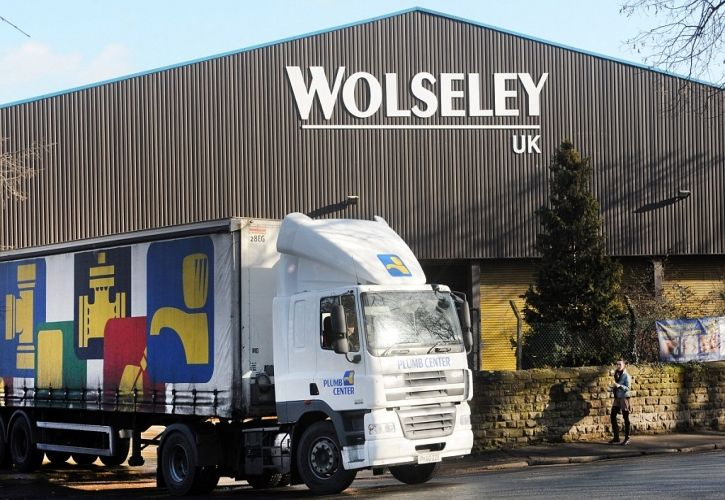 Wolseley UK sign and lorry