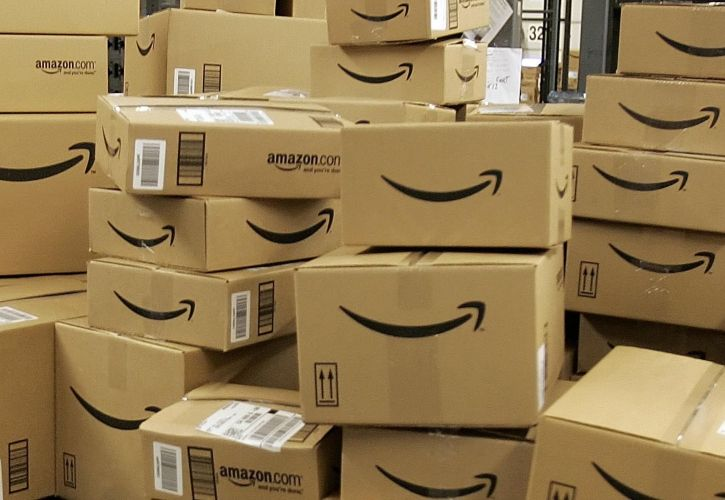 Amazon packaging pile