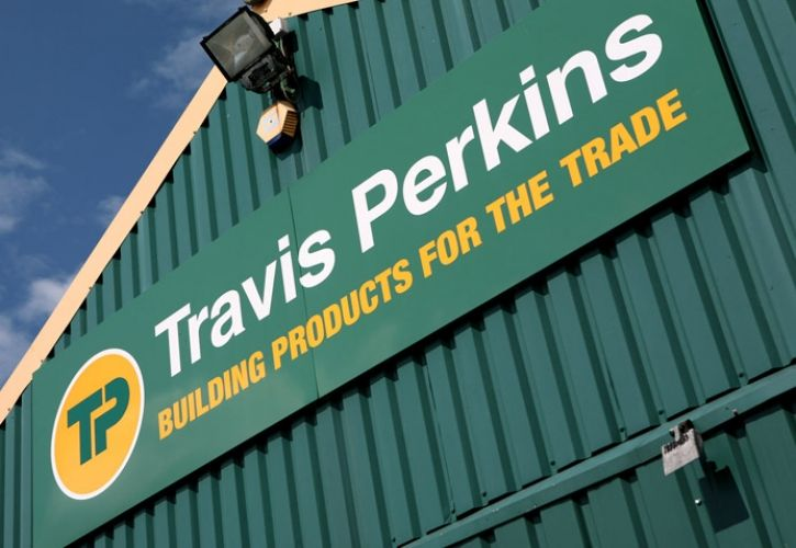 Travis Perkins sign angled