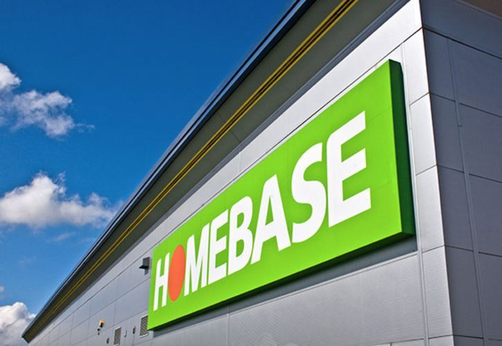 Homebase sign angled