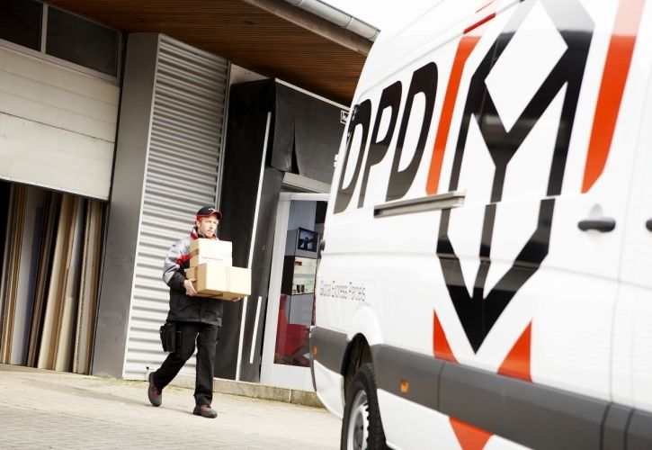 DPD van and loading bay