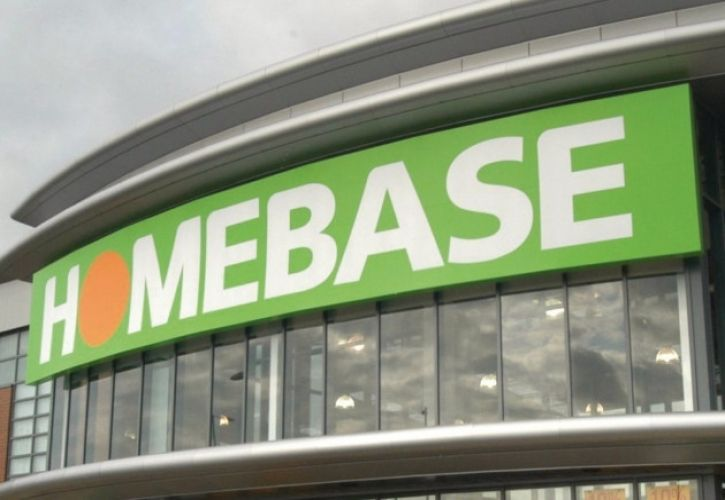 Homebase sign curved