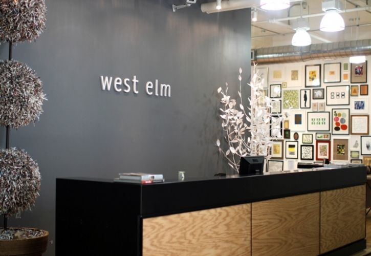 West Elm wall sign