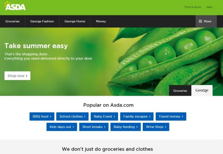 ASDA new website