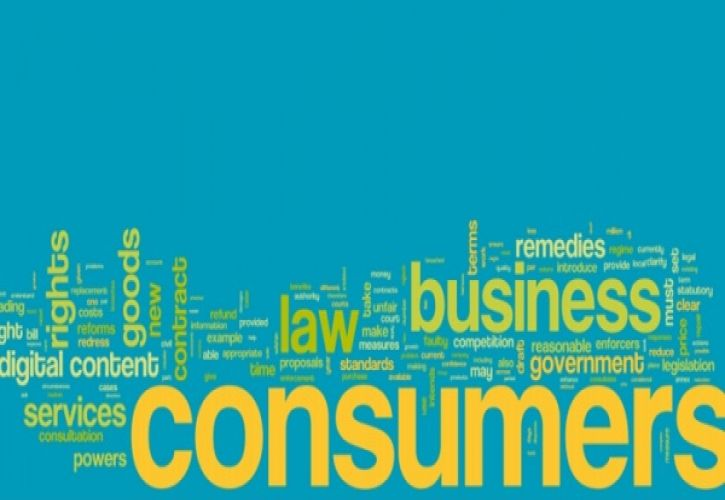Consumer rights business word cloud 725