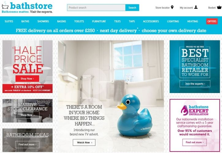 Bathstore website