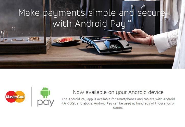 Android Pay & Mastercard 725 x 500