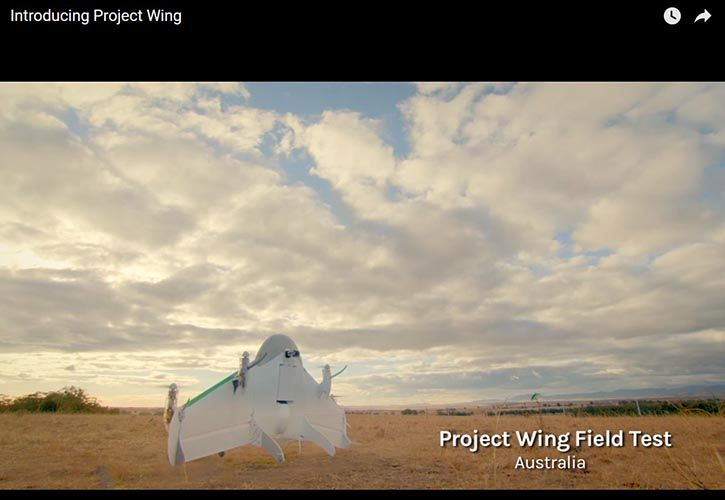 Google - Project Wing 725 x 500