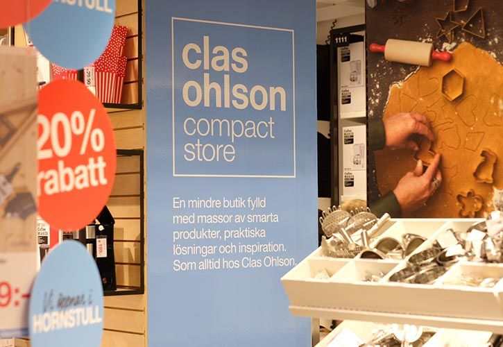 Clas Ohlson compact store - Stockholm 725 x 500