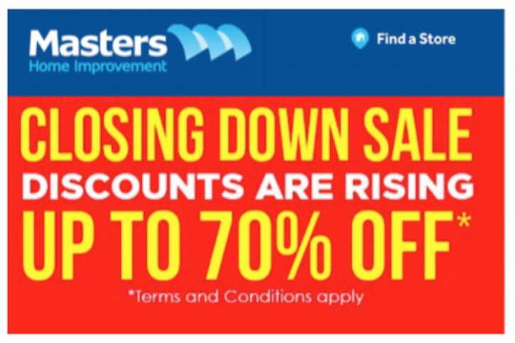 Masters Closing Down Sale