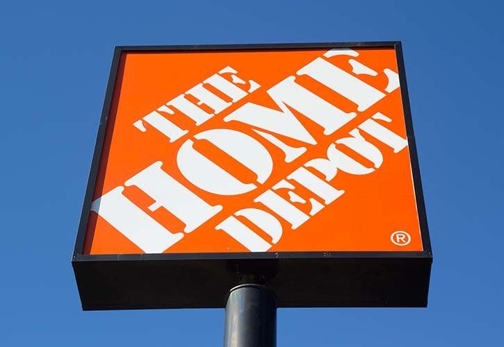 The Home Depot sign - REQUIRES CREDIT shutterstock_180692453 725 x 500