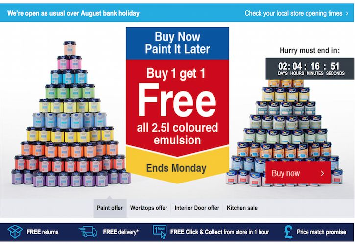 Wickes BOGOF deal - August bank holiday
