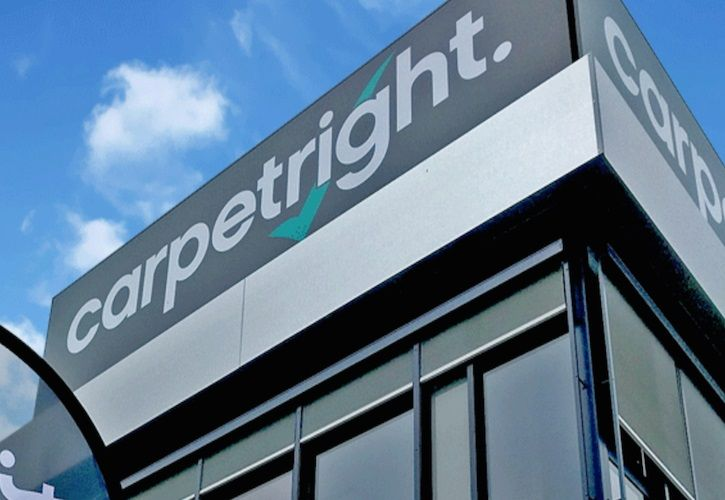 Carpetright corner sign 725 x 500