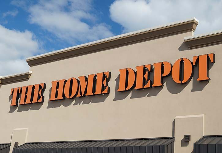 The Home Depot sign angled shutterstock_200872910 725 x 500