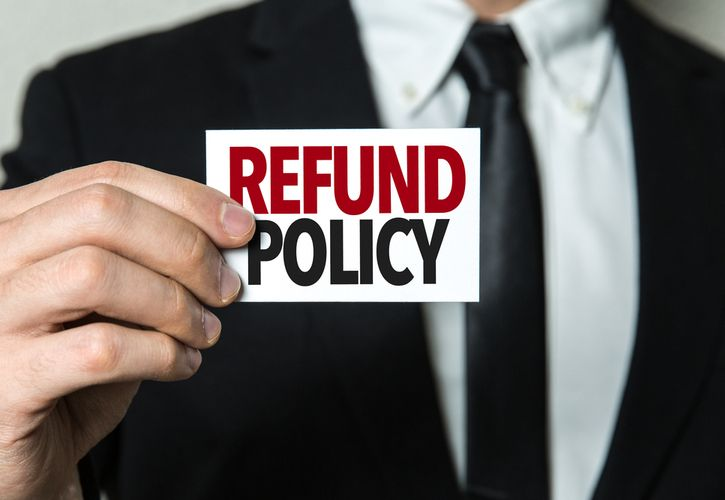 Return policy 725 x 500