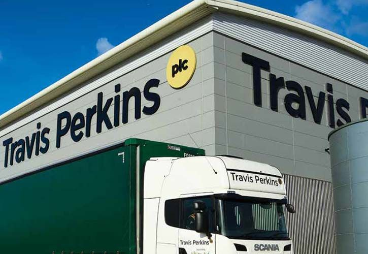 Travis Perkins lorry and sign 725 x 500
