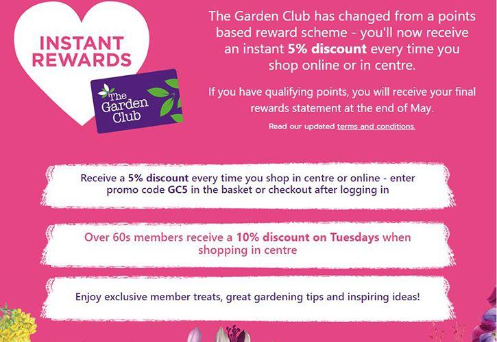 Wyevale Garden Centres Updates Loyalty Scheme