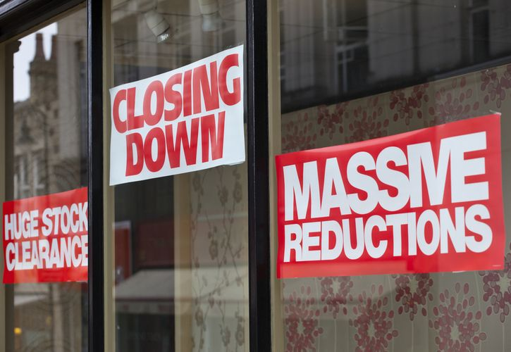 Closing down signs