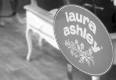 Laura Ashley sign black and white