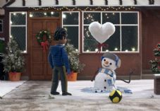 John Lewis and Waitrose Snowman boy heart balloon.jpg