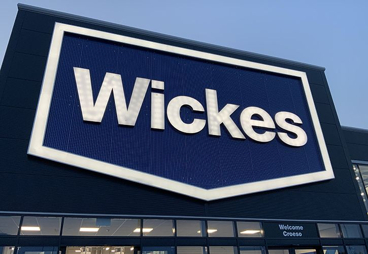 Wickes Cardiff sign