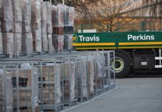 Travis Perkins lorry bricks branch
